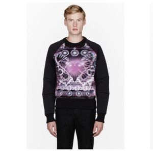 Juun.J Neoprene Layered Hologram Print Sweatshirt